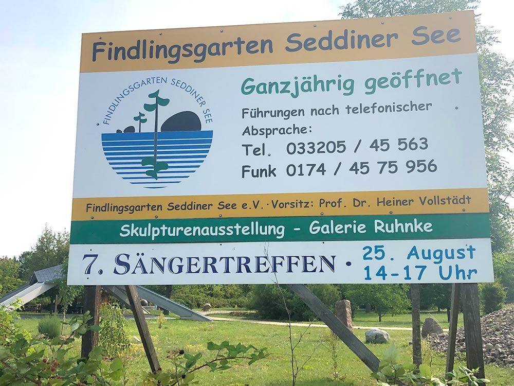 Findlingsgarten Seddiner See als Ausflugstipp